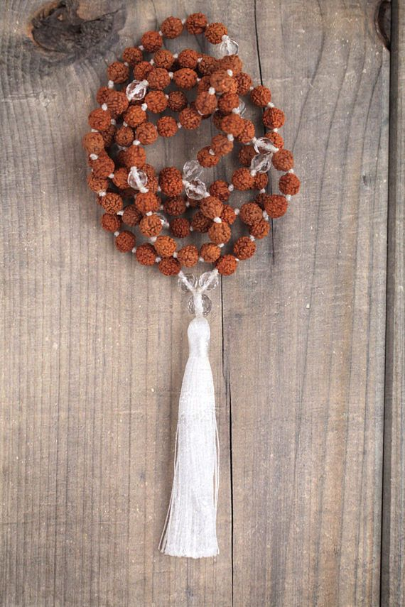 Hand knotted Mala/Clear