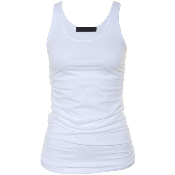 Tusnelda Bloch / T-Shirts Wrapped Tanktop White ❤ liked on Polyvore