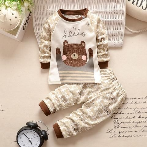 9835774cd New Baby Clothing set Baby Girls Boys Clothes Long Sleeve Shirt+ ...