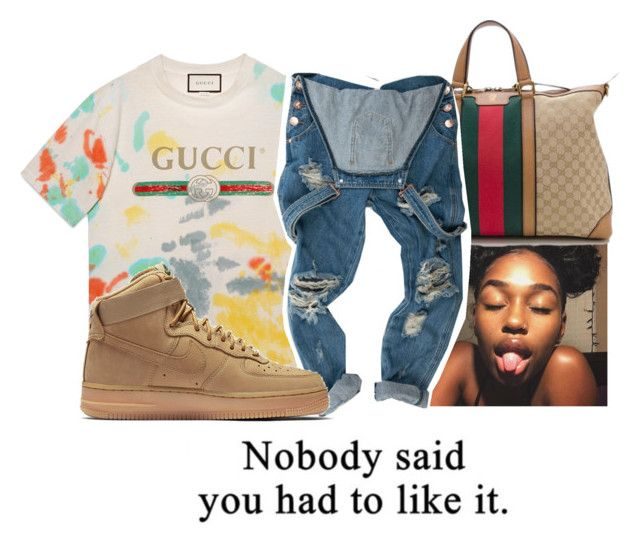 """07.13.2017"" by a-l-o-v-e ❤ liked on Polyvore featuring Gucci and NIKE"