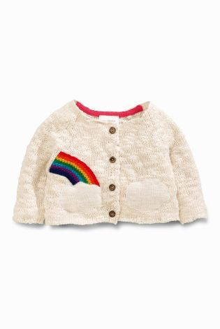 Buy Ecru Rainbow Cardigan (0mths-2yrs) online today at Next: United States of America