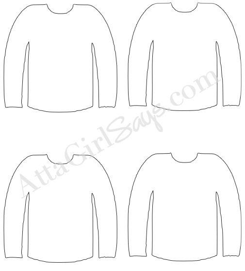Sweater Template - English Sweater Vest