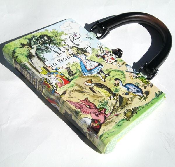 Alice in Wonderland book, turned purse!
