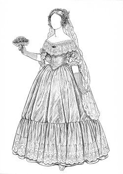 Online Paper Dolls Archive, Charleston Belle, Little Black Dress, 20th Century Haute Couture, The Heirloom Wedding, The Merry Widow, Fashion as I Saw it (1973), New Orleans Belle