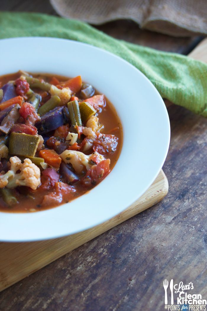 Rustic Tomato Vegetable Soup from Lexi's Clean Kitchen gluten free / g free / gf / wheat free / dairy free / paleo