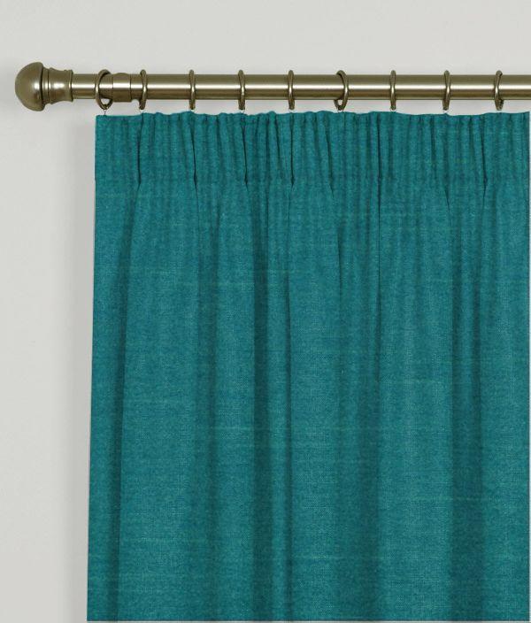pencil pleat curtains faux silk teal ideas lpiz