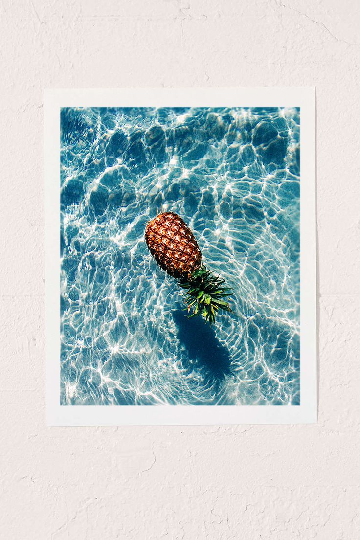 Dean Martindale The Floating Pineapple Art Print - Urban Outfitters