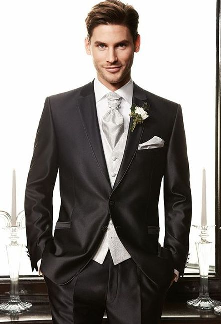 Мужской костюм чёрный | Men's suit black