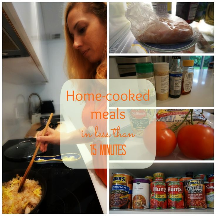 Preparing home cook meal