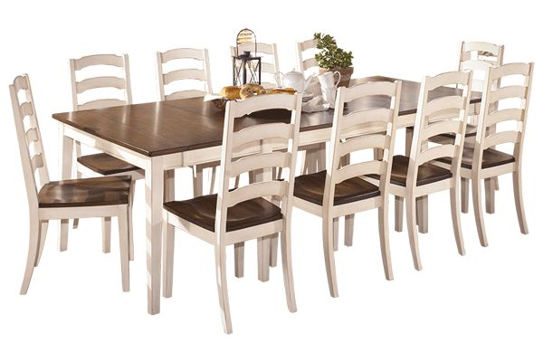 Ashley Furniture - Whitesburg in stock in cream or black with 10 chairs great look!