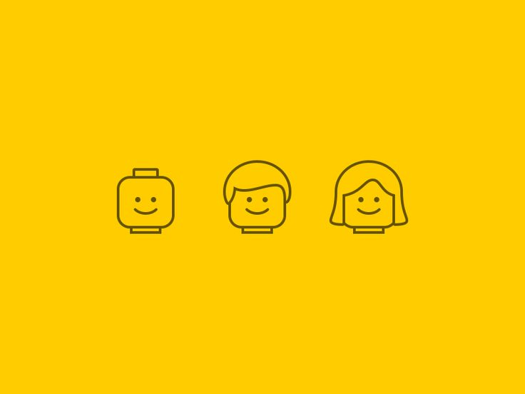 Lego Head Icons by Andrew Berry