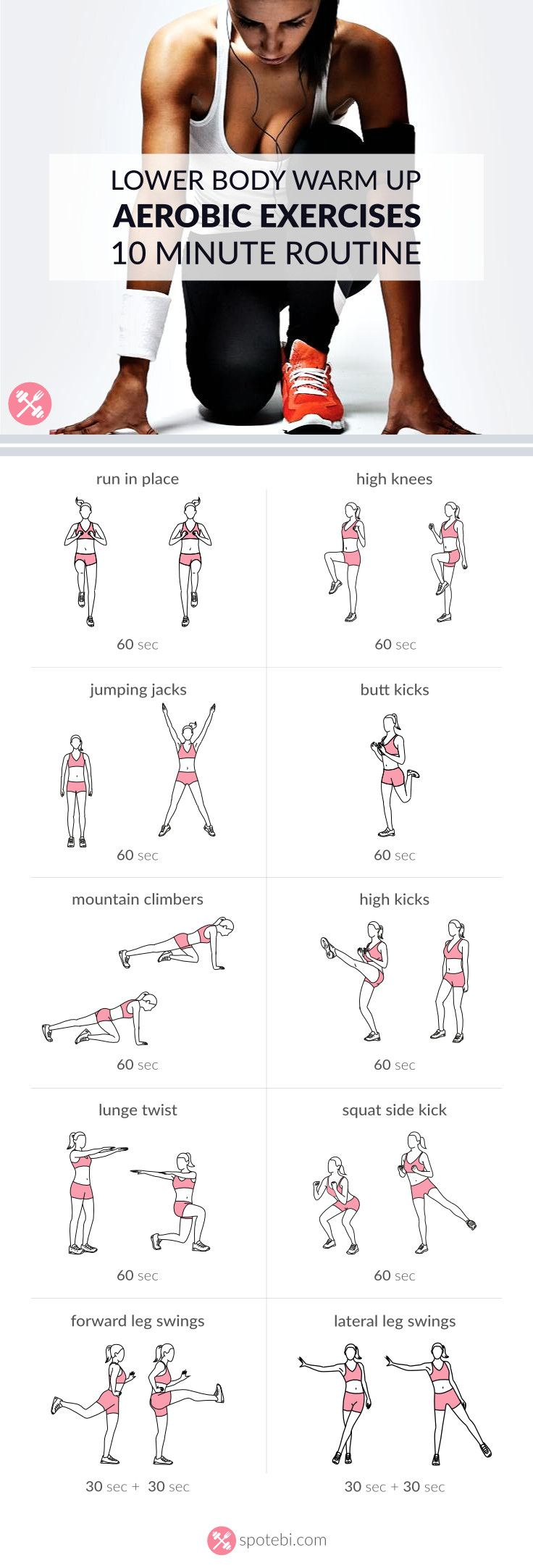 Get ready for your lower body workout with this set of warm up exercises.