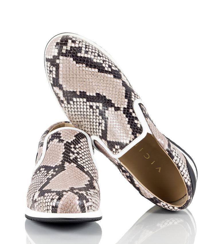 Vicini Rosa snake-print leather slip-on sneakers