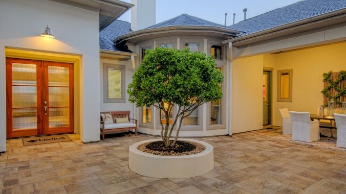 Front courtyard there are two entrances the first leads for Homes with enclosed courtyards