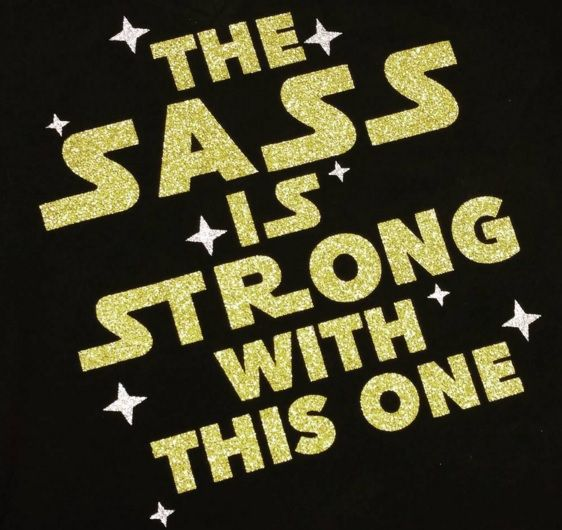 Make a glitter Star Wars Shirt {Ha! I know a little girl this would be perfect for!}