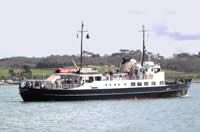 Take a day trip to the beautiful Lundy island, from Bideford Quay on the MS Oldenburg. Here she is  putting out to sea. Don't forget when you have booked your day return ticket, book your table with us for dinner, you will be hungry when you return!