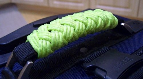 Wrap Your Luggage Handle in Neon Cord for Easy Identification and Comfort