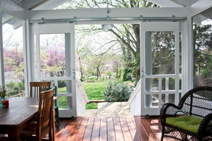 Swinging patio doors