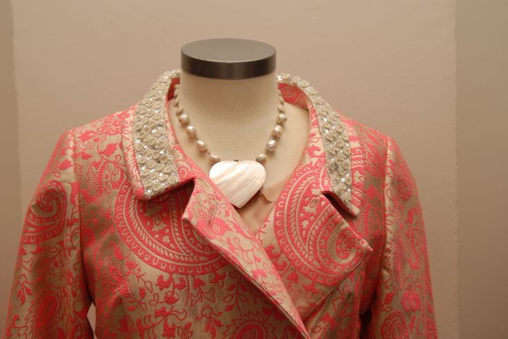 Trelise Cooper Post it Coat coat and Madame Bovary Mother of Pearl necklace in store at Trelise Cooper Wellington