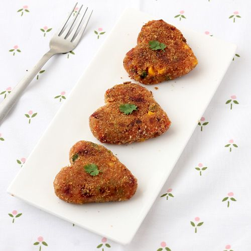 Vegetable Cutlet, a delectable combination of mashed potato and green vegetables, is a crisp out side, soft inside Indian potato snack.