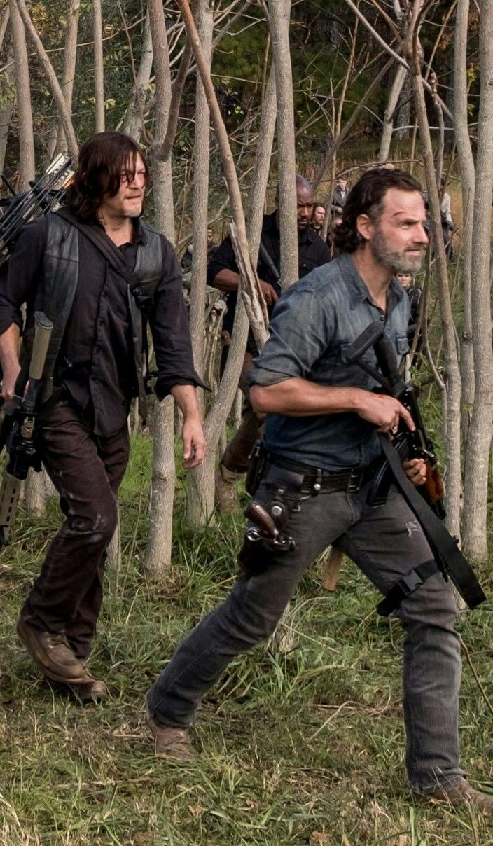 Daryl Dixon And Rick Grimes The Walking Dead Series E Filmes The Walk Dead