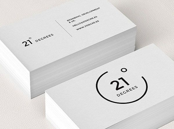 75 Minimal Business Cards Designs For Inspiration With Images