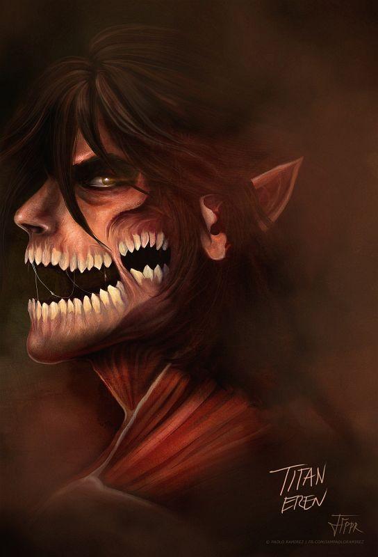 Attack on Titan art | Attack on Titan: Titan Eren by pbozproduction on deviantART