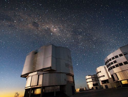 The Very Large Telescope (VLT) at ESO's Cerro Paranal observing site. Credit: European Southern Observatory