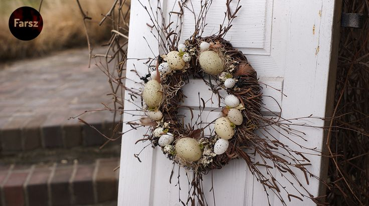 Easter wreath www.facebook.com/farsz