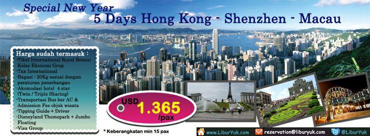 Yuk nikmati liburan natal di Hong Kong.Dapatkan paket Spesial New Year - 5 Days #Hongkong #Shenzen #Macau dengan harga terjangkau sekarang juga!  Paket ini sudah termasuk Tiket Masuk #Disneyland + Lunch Jumbo Floating Restaurant lho!  Dapatkan Special Paket tersebut dari LiburYuk.com di http://liburyuk.com/groupseries/book/11592001/Special-New-Year---5-Days-Hongkong-Shenzen-Macau  #jalan2 #abbeytravel #holiday #hongkong