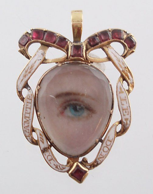 Miniature eye portrait, c. 1790s. wealthy british lovers exchanged 'eye miniatures…' love tokens so clandestine that even now it is almost impossible to identify their recipients or the people they depict. they were meant to be worn inside the lapel, near the heart.