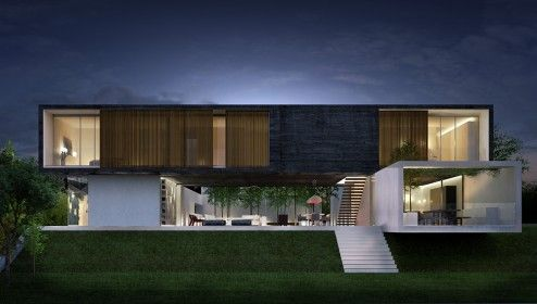 Architectural Rendering | 3D architectural visualisation of a detached house in Morelia, Mexico