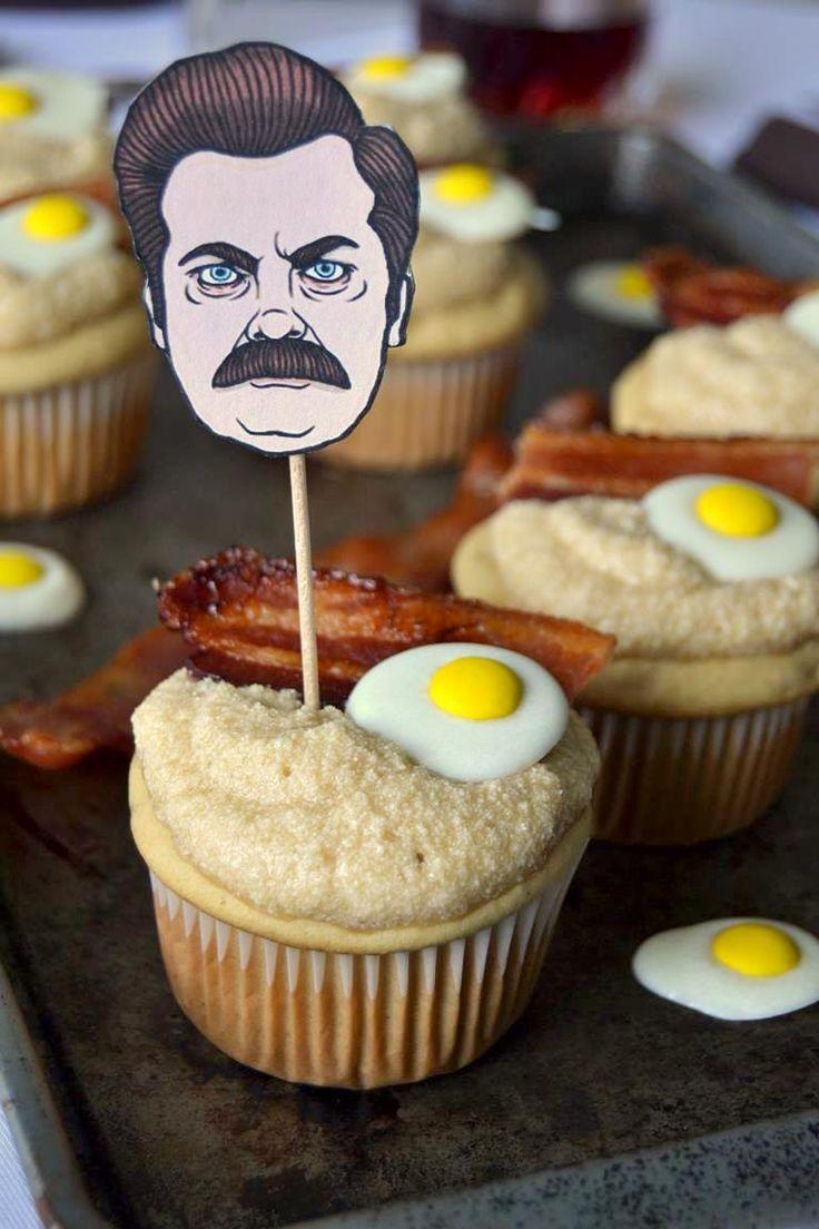 Hahahahahahaha - Ron Swanson Inspired Maple Breakfast Cupcakes
