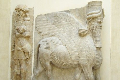 Many mythological creatures are there, which are a cross of a bull and a human. One version of the Assyrian Lamassu has a bull's body, human's head and eagle's wings. Minotaur is a Greek creature with a human body and the head of a bull. Chi you, the Chinese tyrant, is another example of a mythological creature with a similar structural depiction. Some Puranas describe Nandi, the gatekeeper in Hindu mythology, as a bull-faced creature with a human body.