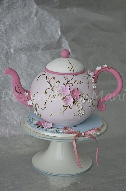 tea pot cake - CakesDecor
