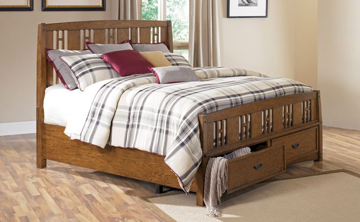 Ashley kelvin hall king panel bed with storage clearance for Home comfort furniture clearance outlet raleigh nc