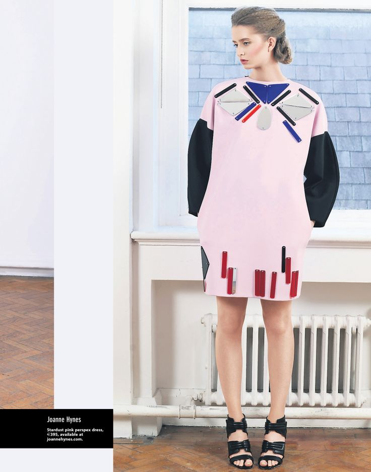 JOANNE HYNES | Stardust Pink Perspex Dress | Irish Examiner Weekend Magazine | March 2014