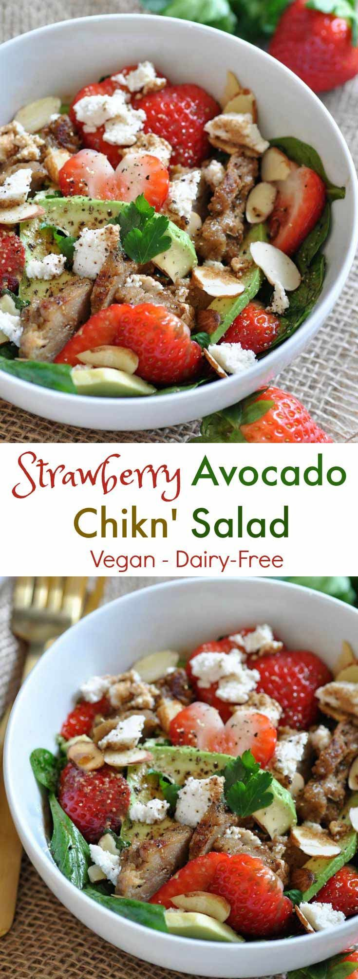 Strawberry Avocado Chikn' Salad