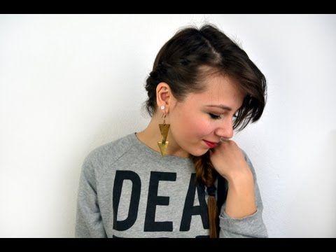 Einfache Alltagsfrisur für dünnes und/oder gestuftes Haar - YouTube