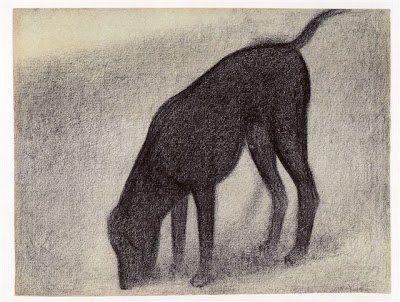Georges Seurat - disegno di un cane