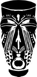 african mask 3 sticker by fantastick wall art #fantastick #onyourwall #wallart #sticker #home #deco