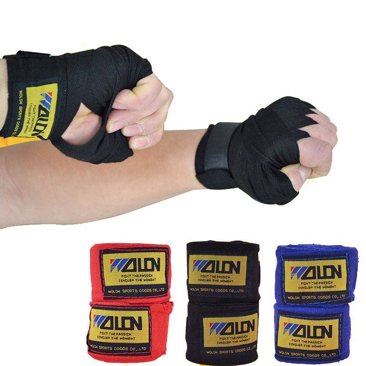 2 Pcs/roll 2.5 M Algodão kick boxing bandage cintas de pulso esportes Luvas Sanda Taekwondo Mão wraps muay bandagem thai