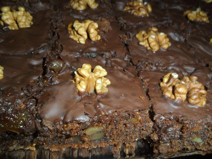 Csokis-diós kocka