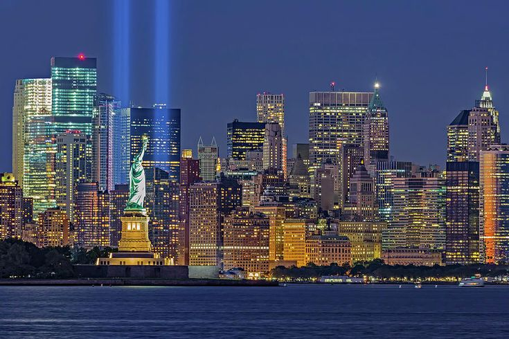September 11 Photograph - World Trade Center Wtc Tribute In Light Memorial II by Susan Candelario