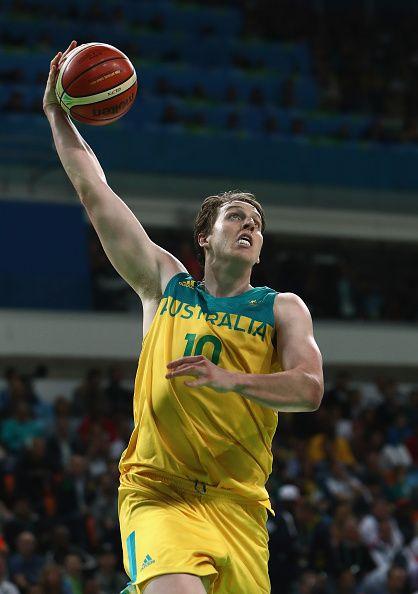#RIO2016 Cameron Bairstow of Australia shoots during the Men's Preliminary Round…