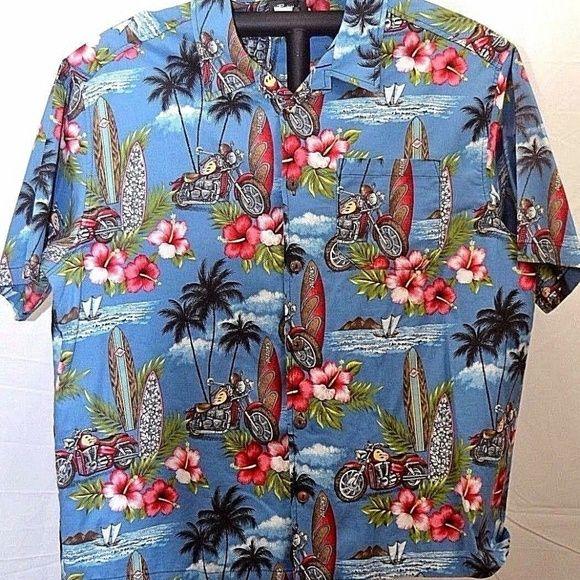 Hawaiian shirt South Pacific shirt Mens tropical shirt 90s vintage shirt S- M Mens vacation wear Mens tiki bar shirt