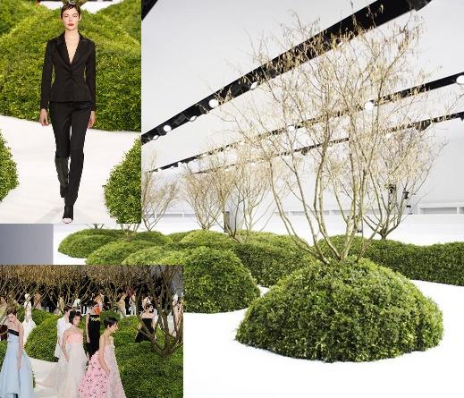 Peragaan Busana Dior di Taman Buatan
