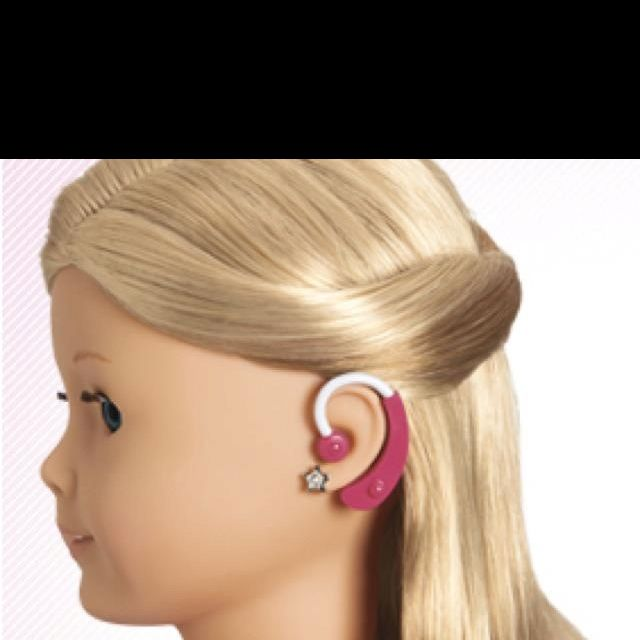"""American girl hearing aid. $14 It is so cute that they make these so that children with hearing loss can make their doll just like them! So sweet """"MSA 30X"""""""