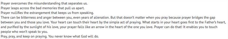 Reader comment from a selection from Our Daily Bread devotional