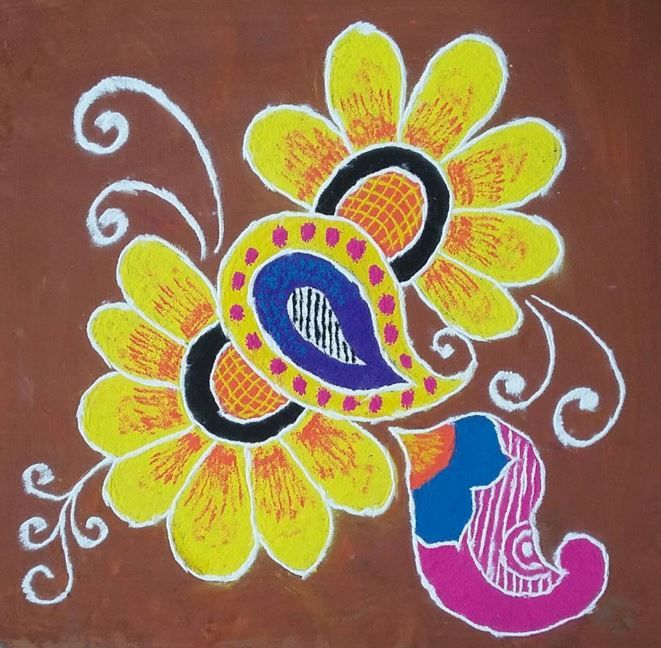 Simple Rangoli Design for Competition